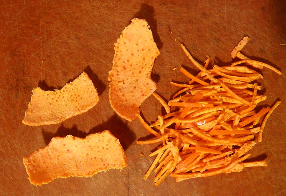 Подсушеные мандариновые корочки от рвоты