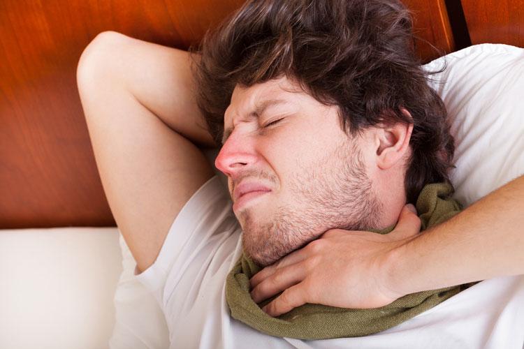 боль в горле насморк слабость температуры нет